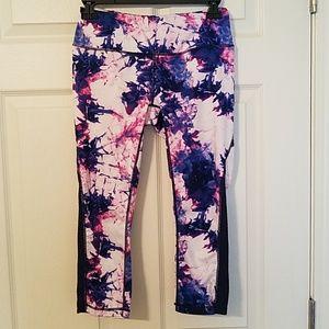 Reebok Tie-Dye Capri Active Leggings Pink/Blue